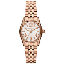 Buy Michael Kors MK3230 Women's Lexington Stainless Steel Bracelet Strap Watch, Rose Gold/White Online at johnlewis.com