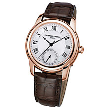 Buy Frederique Constant FC-710MC4H4 Men's Manufacture Automatic Leather Strap Watch, Rose Gold Online at johnlewis.com