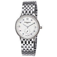 Buy Frederique Constant FC-235MPWD1S6B Women's Slim Line Stainless Steel Strap Watch Online at johnlewis.com