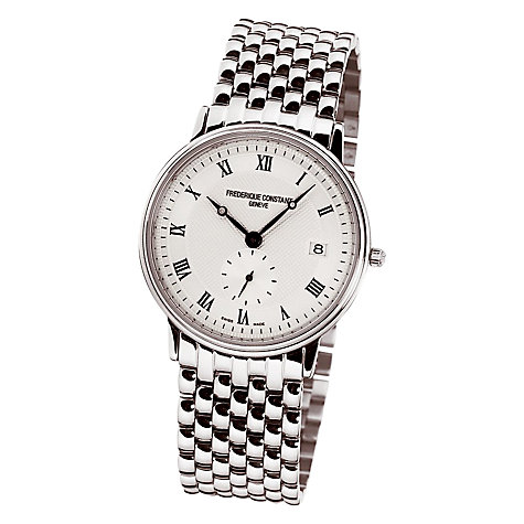 Buy Frederique Constant FC-245M4S6B Men's Slim Line Stainless Steel Strap Watch Online at johnlewis.com