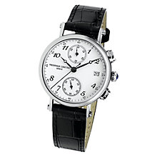 Buy Frédérique Constant FC-291A2R6 Women's Silver Stainless Steel Leather Strap Watch Online at johnlewis.com