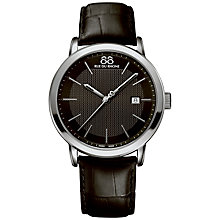 Buy 88 Rue Du Rhone 87WA130010 Men's Double Eight Origin Leather Strap Watch, Black Online at johnlewis.com
