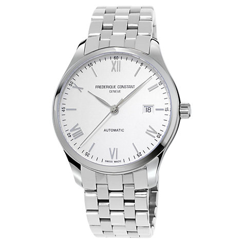 Buy Frédérique Constant FC-303WN5B6B Men's Slimline Automatic Bracelet Strap Watch, Silver Online at johnlewis.com
