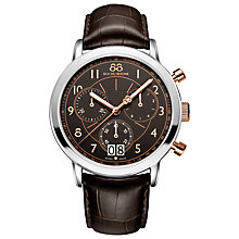 Buy 88 Rue Du Rhone 87WA130024 Men's Double Eight Origin Leather Strap Watch, Brown Online at johnlewis.com