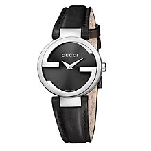 Buy Gucci Women's Interlocking G Leather Strap Watch Online at johnlewis.com