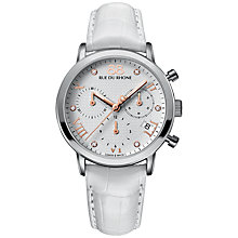 Buy 88 Rue Du Rhone 87WA130003 Women's Double Eight Origin Leather Strap Watch, White Online at johnlewis.com