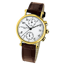 Buy Frédérique Constant FC-291A2R5 Women's Gold Plated Leather Strap Watch Online at johnlewis.com