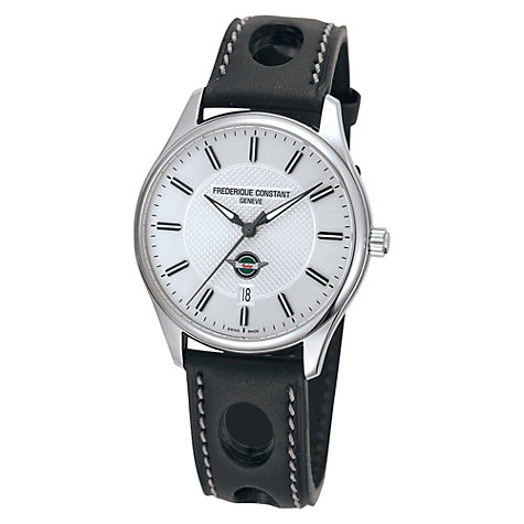 Buy Frédérique Constant FC-303HS5B6 Men's Healey Vintage Rally Leather Strap Watch Online at johnlewis.com
