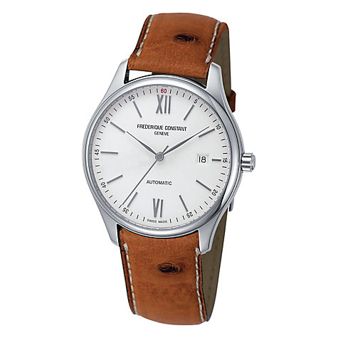 Buy Frédérique Constant FC-303WN5B6OS Men's Classics Index Automatic Leather Strap Watch Online at johnlewis.com