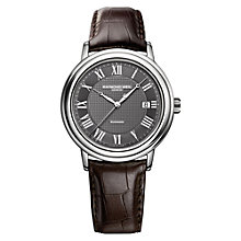 Buy Raymond Weil 2837-STC-00609 Men's Maestro Automatic Leather Strap Watch Online at johnlewis.com