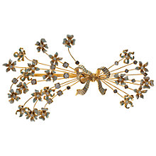 Buy Eclectica Vintage 1950s Marvella Floral Spray Brooch, Gold Online at johnlewis.com