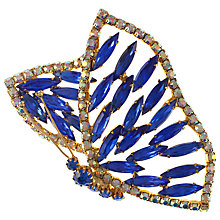 Buy Eclectica 1950s Rhinestone Butterfly Brooch, Blue Online at johnlewis.com