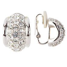 Buy Susan Caplan Vintage Bridal 1990s Swarovski Crystal Demi-Hoop Clip-On Earrings Online at johnlewis.com