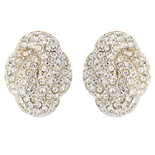 Buy Susan Caplan Vintage Bridal 1990s Swarovski Crystal Knot Clip-On Earrings Online at johnlewis.com