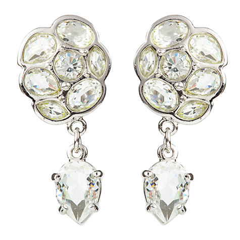 Buy Susan Caplan Vintage Bridal 1990s Swarovski Cluster and Drop Crystal Earrings, Silver Online at johnlewis.com