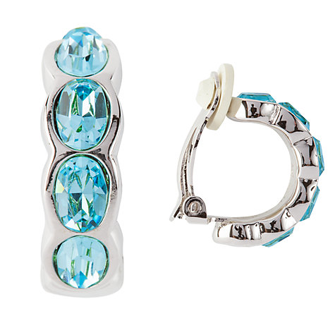 Buy Susan Caplan Vintage Bridal 1990s Swarovski Crystal Demi-Hoop Earrings, Blue Online at johnlewis.com