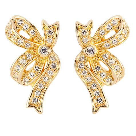 Buy Susan Caplan Vintage Bridal 1990s Christian Dior Crystal Clip-On Earrings, Gold Online at johnlewis.com
