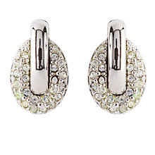 Buy Susan Caplan Vintage Bridal 1990s Dainty Swarovski Crystal Clip-On Earrings, Silver Online at johnlewis.com