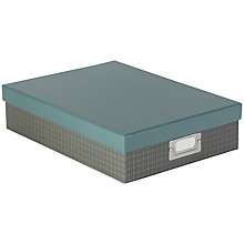 Buy John Lewis Graph Set Box File, Grey Online at johnlewis.com