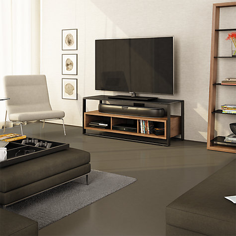 "Buy BDI Sonda 8656 TV Stand for up to 60"" TVs, Natural Walnut Online at johnlewis.com"