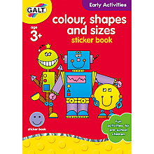 Buy Galt Colour, Shapes and Sizes Sticker Book Online at johnlewis.com
