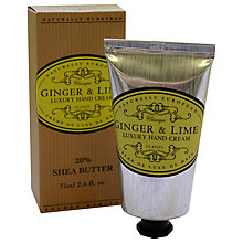 Buy Naturally European Ginger & Lime Luxury Hand Cream, 75ml Online at johnlewis.com
