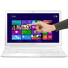 "Buy Samsung ATIV Book 9 Lite Laptop, Quad-core Processor, 4GB RAM, 128GB SSD, 13.3"" Touch Screen, White + Microsoft Office Home & Student 2013 Online at johnlewis.com"