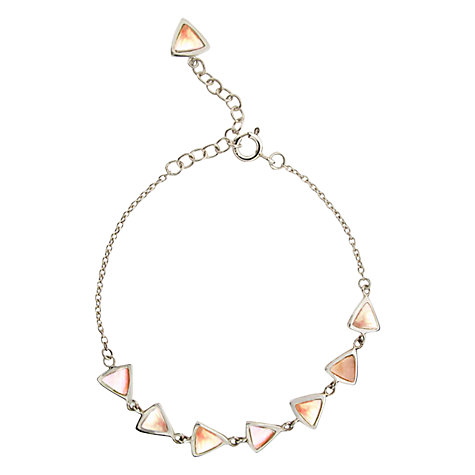 Buy Dinny Hall Paragon Triangle Link Bracelet, Mother of Pearl Online at johnlewis.com