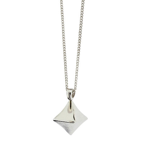 Buy Dinny Hall Almaz Diamond Shaped Pendant, Silver Online at johnlewis.com