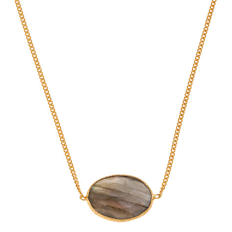Buy Ottoman Hands Oval Stone Pendant Necklace Online at johnlewis.com