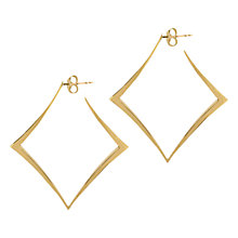 Buy Dinny Hall Almaz Square Hoop Earrings, Gold Online at johnlewis.com