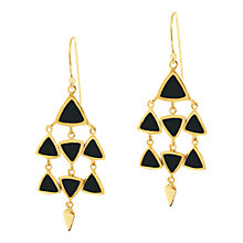Buy Dinny Hall Paragon Kyte Onyx Chandelier Drop Earrings, Gold Online at johnlewis.com