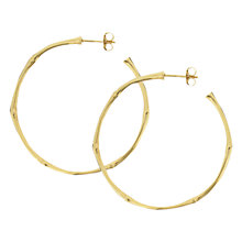 Buy Dinny Hall Medium Bamboo Hoop Earrings Online at johnlewis.com