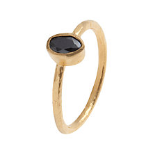 Buy Ottoman Hands 21ct Gold Plated Oval Crystal Stacking Ring Online at johnlewis.com