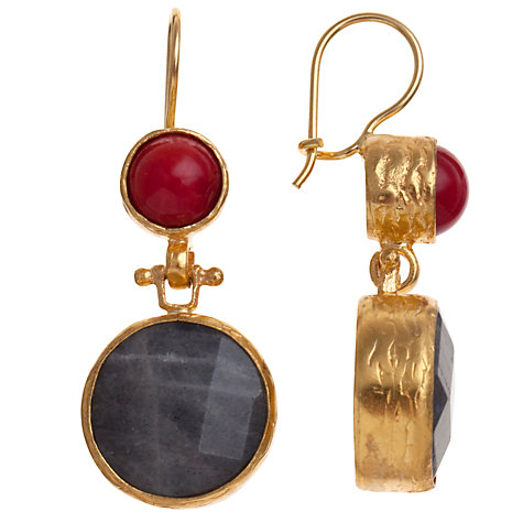 Buy Ottoman Hands Double Stone Drop Earrings Online at johnlewis.com