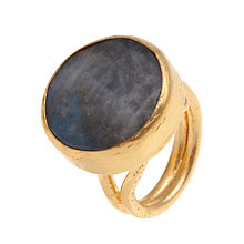 Buy Ottoman Hands Large Circle Double Band Cocktail Ring, Labradorite Online at johnlewis.com
