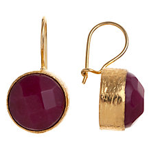 Buy Ottoman Hands Leyla Round Stone Hook Drop Earrings Online at johnlewis.com