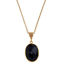 Buy Ottoman Hands Oval Stone Drop Pendant, Onyx Online at johnlewis.com