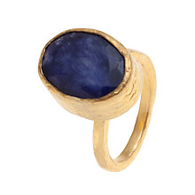Buy Ottoman Hands Oval Adjustable Ring, Sapphire Online at johnlewis.com