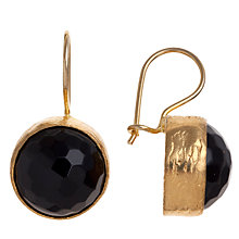 Buy Ottoman Hands Leyla Round Stone Hook Drop Earrings, Onyx Online at johnlewis.com