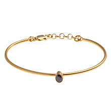 Buy Ottoman Hands Adjustable Teardrop Crystal Bangle, Black Online at johnlewis.com