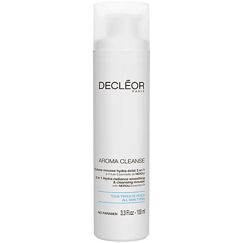 Buy Decléor Hydra-Radiance Smoothing & Cleansing Mousse, 100ml Online at johnlewis.com