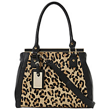 Buy Dune Damzel Frame Detail Grab Handbag, Leopard Online at johnlewis.com