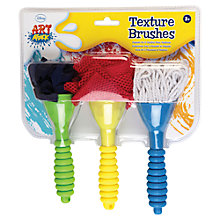 Buy Art Attack Texture Brushes, Pack of 3 Online at johnlewis.com