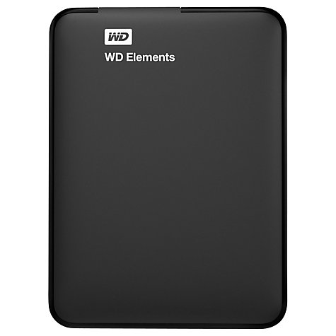 Buy WD Elements Portable Hard Drive, USB 3.0, 2TB, Black Online at johnlewis.com