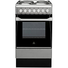 Buy Indesit IS50E1XXS Electric Cooker, Stainless Steel Online at johnlewis.com