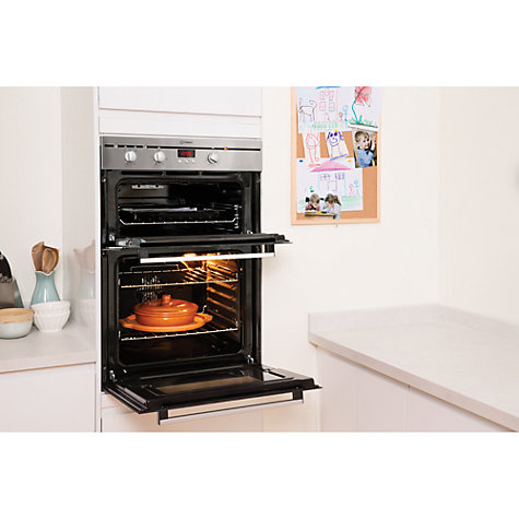 buy indesit fimd23ixs double electric oven stainless. Black Bedroom Furniture Sets. Home Design Ideas