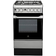 Buy Indesit IS50G1XX Gas Cooker, Stainless Steel Online at johnlewis.com