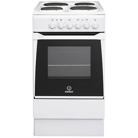 Buy Indesit IS50EWS Electric Cooker, White Online at johnlewis.com