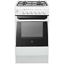 Buy Indesit IS50GW Gas Cooker, White Online at johnlewis.com